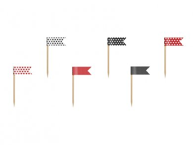 Ladybug Mini Flags Picks (6pcs)