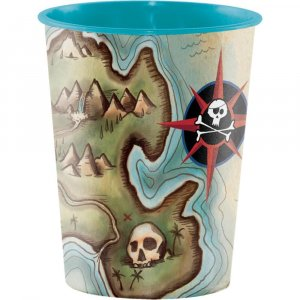 Pirate's Map Plastic Cup