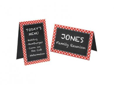 Pic Nic Chalk Board Tent Cards (8pcs)