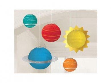 Planets Hanging Paper Lanterns (5pcs)