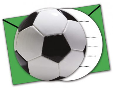 Soccer Theme Party Invitations 6/pcs