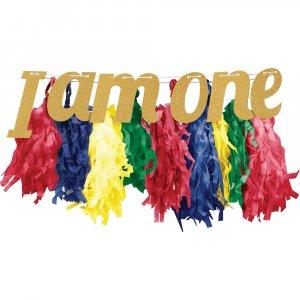 Colorful tassel garland I am one
