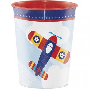 Mutlicolor Airplane Plastic Cup