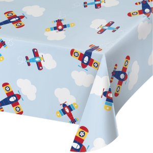 Multicolor Airplane Plastic Tablecover
