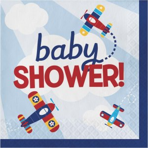 Multicolor Airplane Baby shower Luncheon Napkins (16pcs)