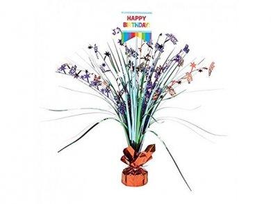 Πολυχρωμο Happy Birthday Διακοσμηση για Το Τραπεζι