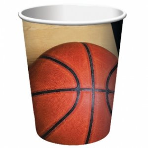 Basketball paper cups 8/pcs