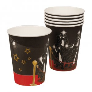 Hollywood VIP paper cups 6/pcs