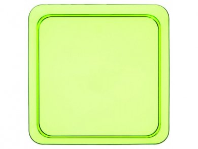Green Small Square Plastic Plates (8pcs)