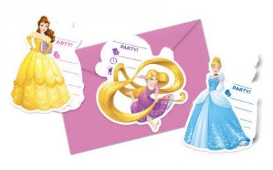 Πριγκίπισσες Του Ντίσνεϋ Προσκλήσεις 6/Τμχ