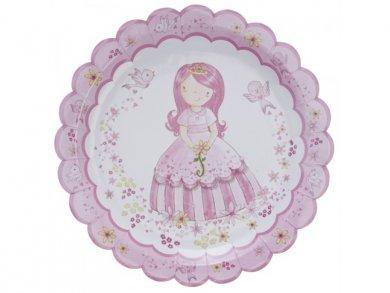 Ρομαντική Πριγκίπισσα Μεγάλα Χάρτινα Πιάτα (8τμχ)