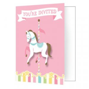 Carousel party invitations 8/pcs