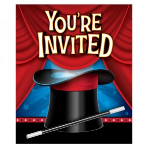 Magic Party invitations 8/pcs