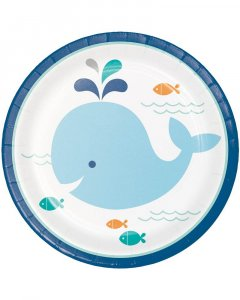 Blue Little Whale-Baby Shower Theme