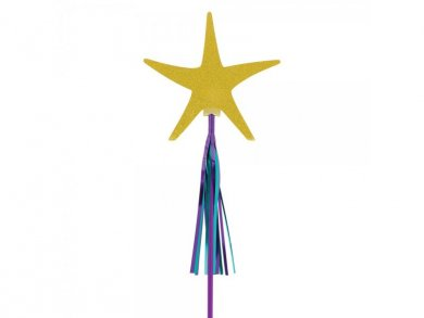 Gold Glitter Star Fish Wands (6pcs)