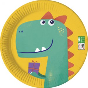 Roar Party Large Paper Plates 8/pcs