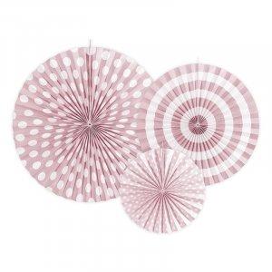 Ροζ Διακοσμητικες Βενταλιες 3τμχ