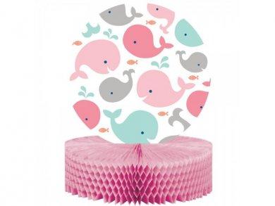 Ροζ Φάλαινα Διακόσμηση για το Τραπέζι (22,8εκ x 30,4εκ)