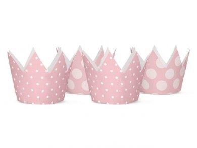 Pink dots party crowns 4/pcs