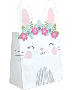 Pink Bunny Paper Treat Bags (8pcs)