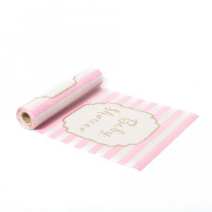 Pink & Gold Baby Shower Table Runner