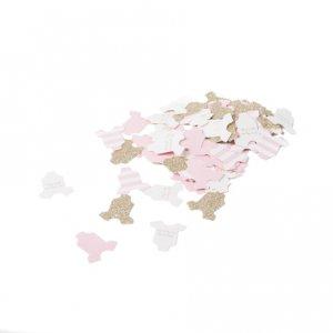 Ροζ & Χρυσό Γκλίτερ Ρουχαλάκια Κομφετί (100τμχ)