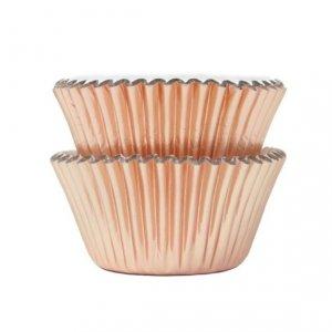 Metallic Rose Gold Cupcake Cases 45/pcs