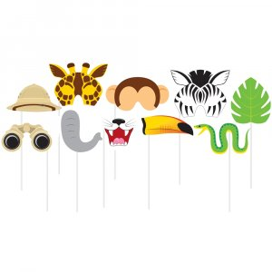 Safari photobooth props (10pcs)