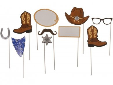 Blue Bandana Cowboy Photobooth props 10/pcs