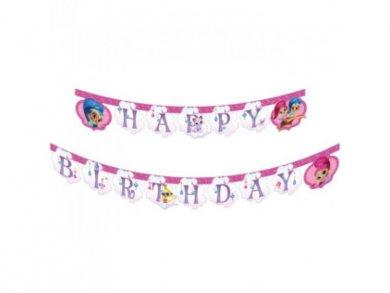 Shimmer and Shine Γιρλάντα για Γενέθλια (2μ)