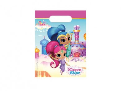 Shimmer and Shine Plastic Loot Bags (6pcs)