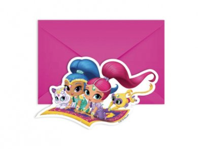 Shimmer and Shine Party Invitations (6pcs)