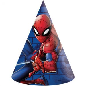 Spiderman Party hats 6/pcs