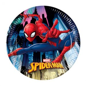 Spiderman Small Paper Plates 8/pcs