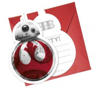 Star Wars Party Invitations 6/pcs