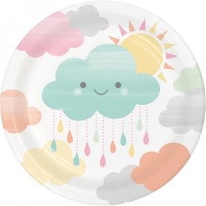 Sunshine Small Paper Plates 8/pcs