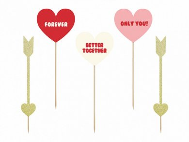 Sweet Love Large Cake Toppers (5pcs)