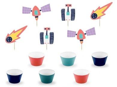 Ταξίδι Στο Διάστημα Σετ Για Cupcakes 6τμχ