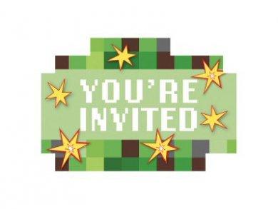 ΤΝΤ Minecraft Πάρτυ Προσκλήσεις για Πάρτυ (8τμχ)
