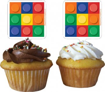 Block Party Cupcake toppers (12pcs)