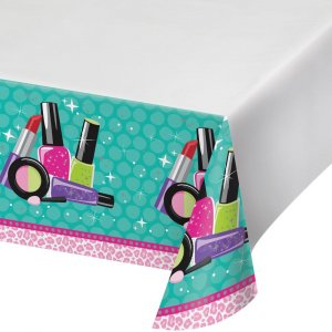 Spa party plastic tablecover