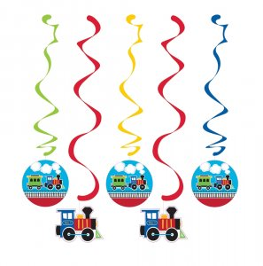 Little Train swirl decoration (5pcs)