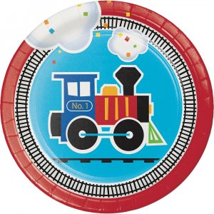 Little Train small paper plates (8pcs)