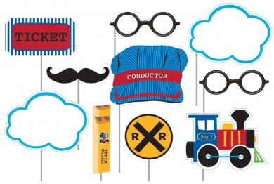 Little Train Photobooth props 10/pcs