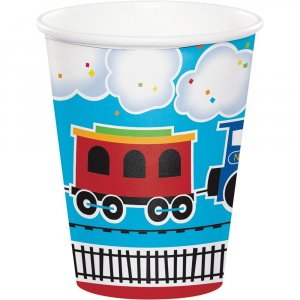 Little train paper cups (8pcs)