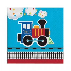 Little Train Beverage Napkins (16pcs)
