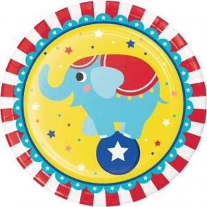 Circus Party Large Paper Plates (8pcs)