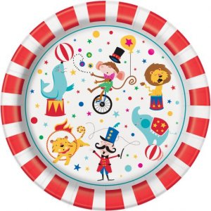 Τσίρκο Μεγάλα Χάρτινα Πιάτα (8τμχ)
