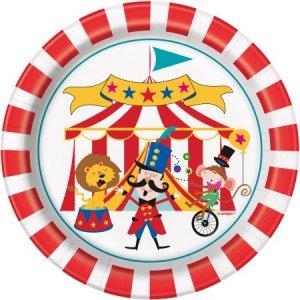 Τσίρκο Μικρά Χάρτινα Πιάτα (8τμχ)