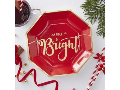 Merry and Bright Large Paper Plates (8pcs)